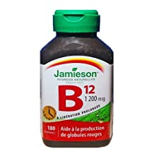 Jamieson Vitamin B12 1,200 mcg - 180 Timed Release Tablets - (Econo Bottle)