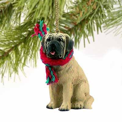 Mastiff Dog Ornament - Mastiff Miniature Dog Ornament