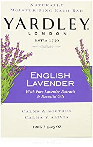 Yardley London Soap Bath Bar, English Lavender & Essential Oils, 8 Count