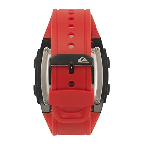 086702565276 - Quiksilver Men's QS/1020BKRD THE GROM Digital Chronograph Red Resin Strap Watch carousel main 1