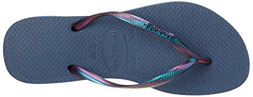 UPC 887252061412, Havaianas Women's Slim Furta COR Flip Flop, Indigo Blue, 39 BR/9/10 M US