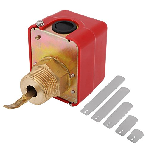 AC 250V 10Bar Brass Water Flow Switch Paddle Control NPT Thread IP54 SPDT Output