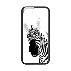 Custom Cute Zebra Stripe Durable Protector Plastic Snap On Cover Case for iPhone 6