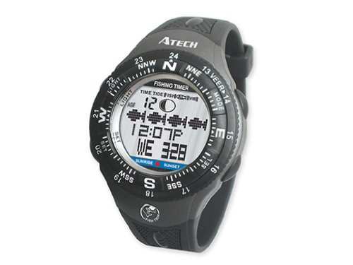 GSI Super Quality Outdoor Fishfinder Wrist Mount Digital Watch – Graphic Charts, Tide, Sun And Moon Data – Timer, Alarms, Chronograph And Calendar Functions – For Fishing And Sports, Outdoor Stuffs