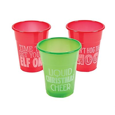 Humorous Christmas Disposable Cups 2 units