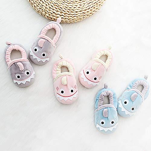 SDBING Toddler Baby Boys Girls Cute Cartoon Shark Shoes Soft Anti-slip Winter Home Slippers 6-24 Months (12-18 Months, Cute Shark Pink) by SDBING (Image #5)