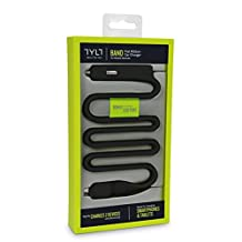 Tylt MIC-BANDBK-T Band Micro USB Car Charger with Built-In Port 2 1A-Retail Packaging-Black