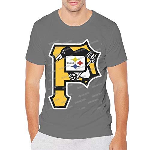 MICHAELM Mens Pittsburgh City Logo Mix Hockey T-Shirt Deep Heather 6XL