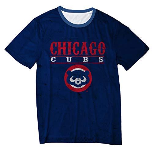 - FOCO MLB Chicago Cubs Retro Logo TEE - Mens Extra Large