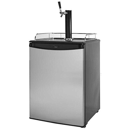 Cal Flame BBQ09843B Beer Tap Refrigerator, Stainless Steel