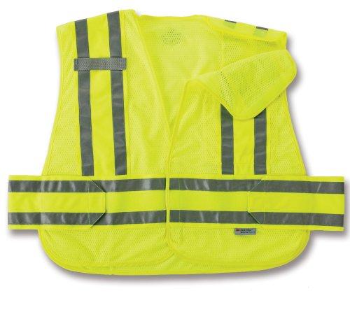 (Ergodyne GloWear 8244PSV ANSI High Visibility Lime Expandable Public Safety Vest, X-Large/2X-Large)