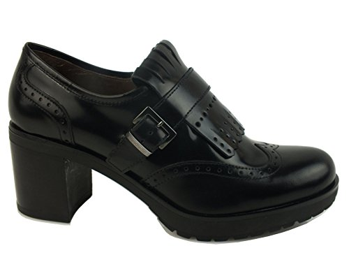 NERO GIARDINI oxford talon 7 CUIR NERO BLACK A616492D Made in Italy