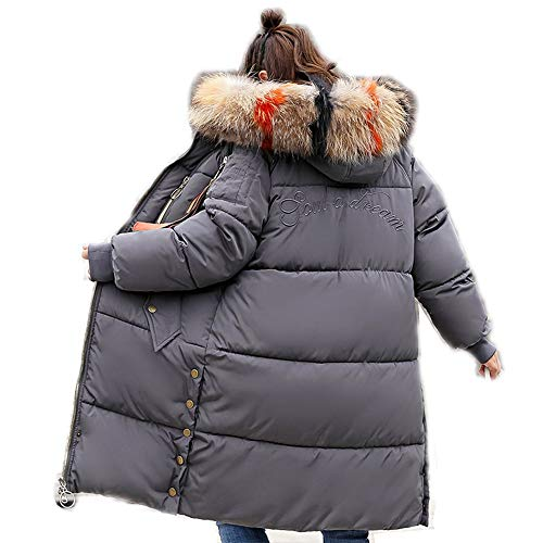 Pelliccia Ampio Di Da Lungo Alto Selvaggio Collo Gray Donna Giacca In Camicia Grande Piumino Cappotti Taglia Vitila Cotone UwZqH0vv