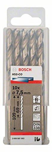 Bosch Professional Metallbohrer HSS-Cobalt 10 St/ück, /Ø 7,5 mm