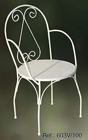 Rustiluz Silla de forja Modelo 603v: Amazon.es: Jardín