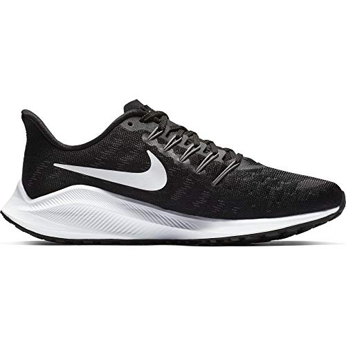 Nike Women's Air Zoom Vomero 14 Running Shoe (8, Black/Thunder Grey/White)