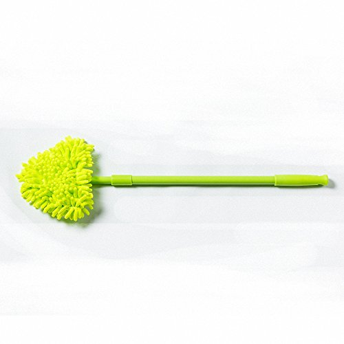 Haerbin Chenille Triangle Mop 180 Degree Rotating Extendable Microfiber Mop Pad Removable Cleaning Supplies For Bathrooms,Kitchens,Bathtubs,Mirrors,Ceilings,Glass,Ceiling Fans