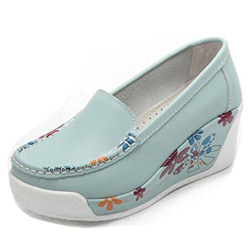 Solshine Compensées Bleu Femme Chaussures Clair w07TrwqW