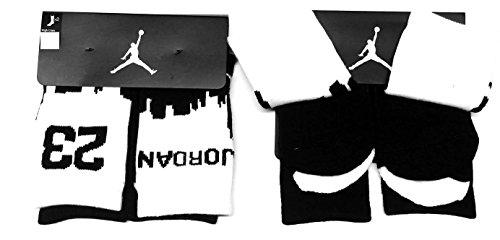 Boy's Jordan Two-Tone 2-Pack High Crew Socks 3Y-5Y by NIKE