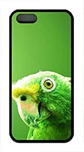 iPhone 5 5S Case Green Parrot TPU Custom iPhone 5 5S Case Cover Black