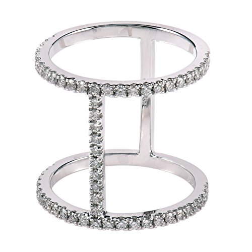 Diamond Studs Forever - Bague en or blanc 14 carats - diamant 0,5 carat - G-H/I1