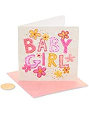 Papyrus Baby Shower Card for Girl (Patchwork Baby Girl)