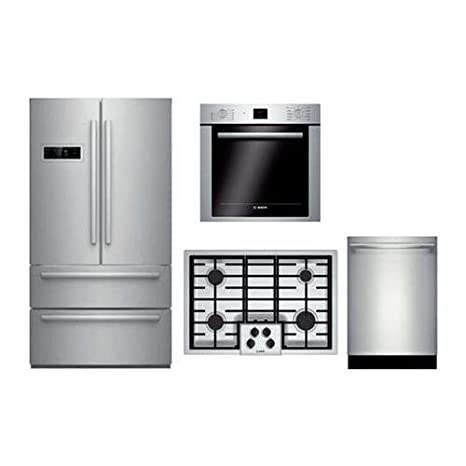 Amazon Bosch 4 Piece Stainless Steel Kitchen Package With