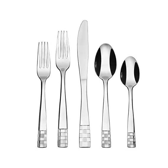 Lorena ROALD Silverware Set - 20pcs Dinner Flatware with Fork, Knife and Spoon -  - kitchen-tabletop, kitchen-dining-room, flatware - 41z5%2BCyxnPL. SS570  -