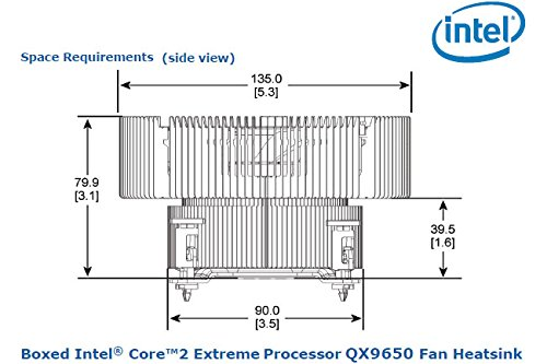 Intel® Core™2 Extreme Processor QX9650 Heatsink Fan Socket ...
