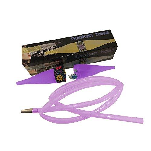 Silicone Hookah Shisha Hose With Freezable Tip (Gel Bags) (Purple)