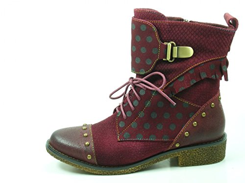 Boots Coralie Rot SL1205 02 2 Leather Womens Laura Vita wqFxPYtT