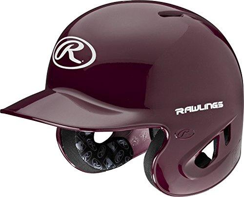 Maroon Baseball Batting Helmet (Rawlings 90 MPH College/High School Batting Helmet, Maroon, X-Large)