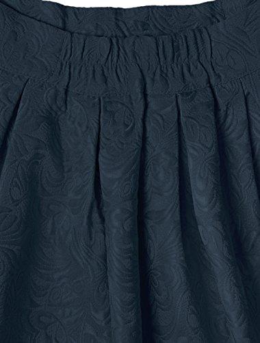 plisse fleurs marin taille K jacquard et Allegra Jupe ample en Femme haute Bleu 7XTqwx8Iw