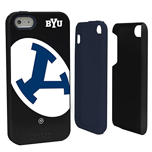 NCAA Byu Cougars Hybrid Case for iPhone 5/5s, Black, One ()