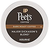 Peet's Coffee, Major Dickason's Blend, Dark Roast, K-Cup Pack (16 ct), Single Cup Coffee Pods, Rich, Smooth & Complex Dark Roast Blend, with Full Bodied & Layered Flavor; for All Keurig K-Cup Brewers