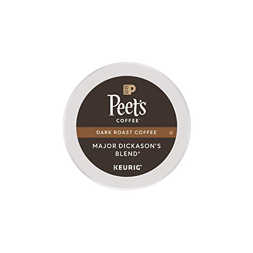 Peet's Coffee, Crucial Dickason's Blend, Dark Roast, K-Cup Pack (16 ct), Single Cup Coffee Pods, Rich, Smooth & Complex Dark Roast Mix, with Full Bodied & Layered Flavor; for All Keurig K-Cup Brewers
