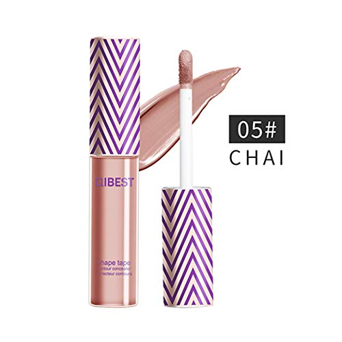 QIBEST Professional Makeup Contour Concealer eyeshadow base, Full Wear Concealer, Full Coverage, CHAI (5)