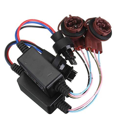 Mazur 2PCS 3157 LED Decoder Adapter Anti-Hyper Anti-Blink Anti-Flash Error...