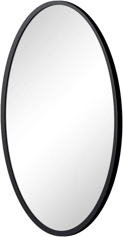 KAASUN Oval Wall Mirror with Coating Steel Frame 24 x 36 Inch Wall Mounted Bathroom Mirror Rusty-Free for Home Decorative Living Room Washroom Entryway Hanging