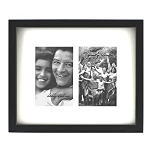 Fetco Home Decor Grenon Ivory Matted Picture Frame for Wall Gallery, 4 by 6-Inch, Black