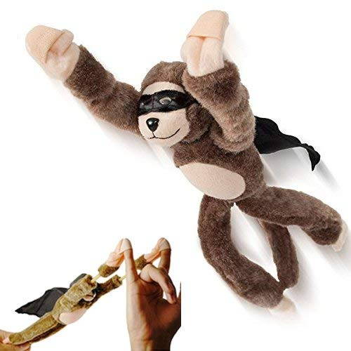 ixaer Flying Screaming Monkey Flingshot, Novelty Flingshot Monkey Slingshot Flying Stuffed Screaming Monkey Plush Doll Toy Xmas Gift (1) (Monkey Slingshot)