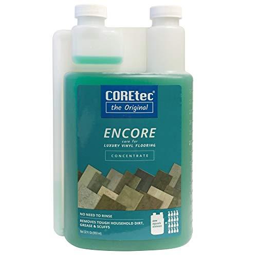 COREtec ENCORE 03Z78 Floor Cleaner Care for Luxury Vinyl Flooring Concentrate 32oz (Refills 16x) - Luxury Vinyl Flooring