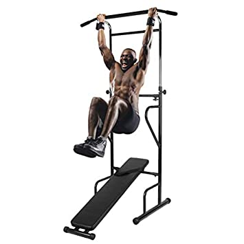 Simoner Power Tower, Professional Heavy Duty Dip Station, Pull Push Chin Up Bar Ideal for Home Gym Fitness