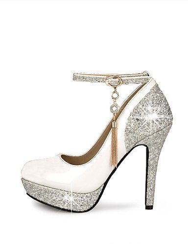 ShangYi Schuh Damenschuhe - High Heels - Hochzeit / Kleid / Party & Festivität - Kunstleder - Stöckelabsatz - Absätze / Plateau / Rundeschuh -Schwarz / , 4in-4 3/4in-white