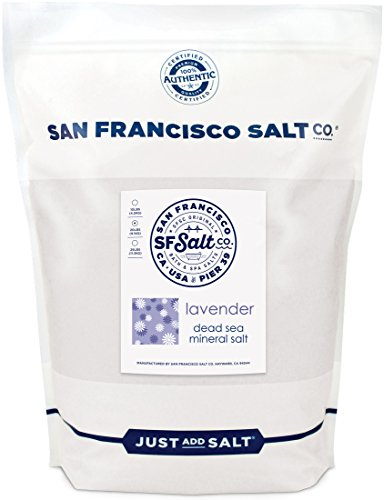 Relaxing Lavender, Dead Sea Mineral Soak 20lbs by San Francisco Bath Salt Company