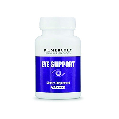 Dr. Mercola Eye Support - 30 Capsules - Lutein, Astaxanthin, Black Currant, Zeaxanthin - Top Antioxidant Support for Eyesight + Eye Health - Natural Source of Carotenoids - More Power than Vitamin (Carotenoid Antioxidant)