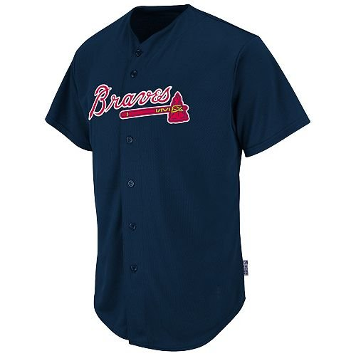Atlanta Braves Full-Button BLANK BACK Major League Baseball Cool-Base Replica MLB Jersey