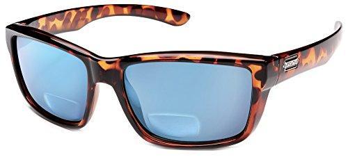 (Suncloud Mayor Polarized Bi-Focal Reading Sunglasses in Tortoise w/Blue Mirror Lens +1.50)
