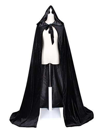 LuckyMjmy Velvet Renaissance Medieval Cloak Cape lined with