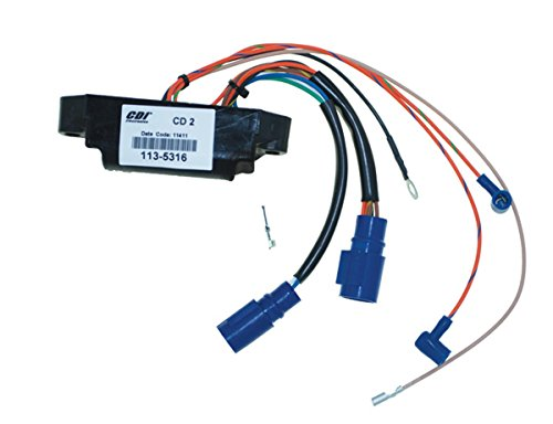 Johnson Evinrude Power Pack CD2 40 Hp 2000 -2005 Model Elect Start 2 STK 2 Cyl WSM 113-5316 CD2 SL 6700 OEM# 175316, 18-5785, 585261, 585262, 878334, 878334001 (Yamaha 40 Hp 2 Stroke 3 Cylinder)